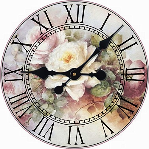 Toright Large Wall Decorative Living Room Clock Big Bouquet Colorful Flower Design - Bouquet Wall Clock