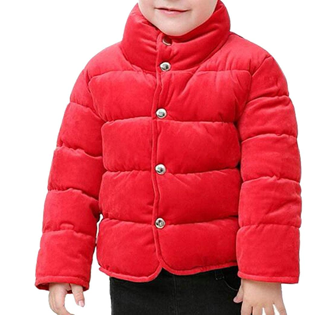 Sweatwater Boys Slim Fit Warm Thicken Casual Velour Cute Parkas Coats