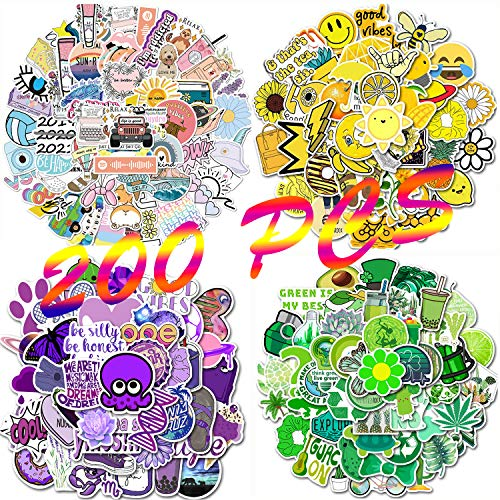 🥇 200 Pcs Cool Water Bottles Stickers