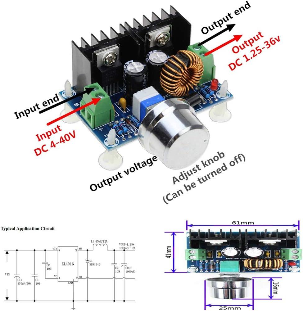 XH-M243 Digital Display Constant Voltage Power Charging XL4016E1 Regulator 8A