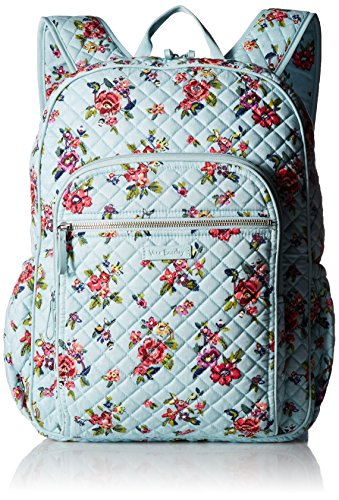 Vera Bradley Iconic Campus Backpack, Signature Cotton, Water Bouquet