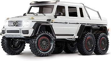 Traxxas 88096-4-WHT - Rastreo impermeable para todo terreno, Mercedes Benz G 63 1/10 Escala y Trail TRX-6 Rastreo, color blanco