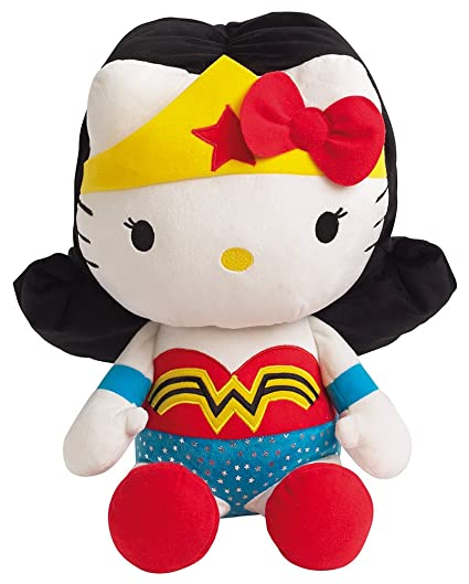 Jemini - Peluche Hello Kitty - Wonder Woman 40cm - 3298060228695