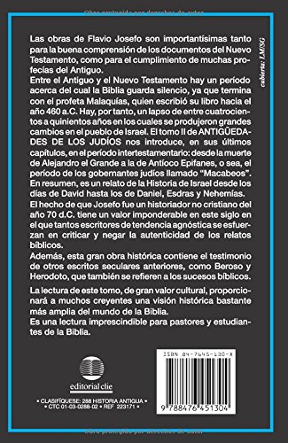 Antiguedades De Los Judios, Tomo II / Jewish Antiques, Volume II (Spanish Edition) by Editorial Clie