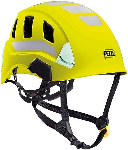 PETZL Casco Strato Vent Hi-Viz Amarillo, Unisex Adulto, One Size