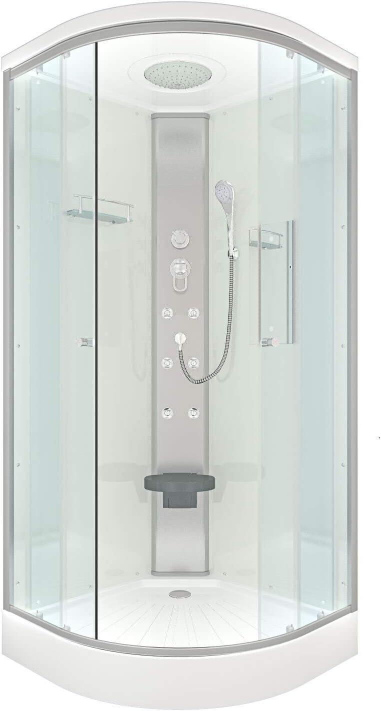 ACQUA VAPORE DTP10 Cabina de ducha, ducha prefabricada 80 x 80: Amazon.es: Bricolaje y herramientas