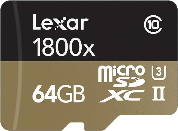 Lexar Professional - Tarjeta de Memoria 1800x microSDXC UHS-II de ...