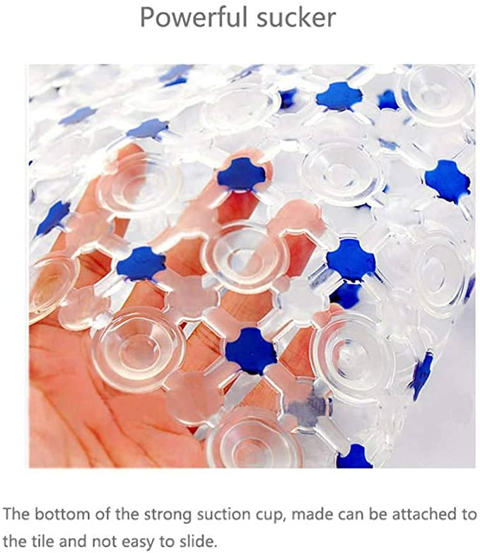 36/×67CM CLGTY Alfombra para Ba/ñera Antideslizante Ventosas Alfombra De Ba/ño CLORURO DE POLIVINILO Alfombra para Ba/ñera Alfombrilla De Ba/ño para Ba/ño Ducha Inodoro-Azul claro-14/×26 Pulgada