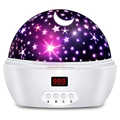 Night Lights for Kids and Baby with Timer, Star Projector Night Light for Boys and Girls, Projection Lamp for Bedroom: Baby