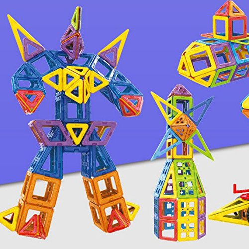 OOFAY 102 Pcs Magnetic Blocks Creative Magnetic Building Blocks Magnetic Tiles Set For 3D Construction For Kids Age 3+ Educational Toys For Kids by OOFAY (Image #2)