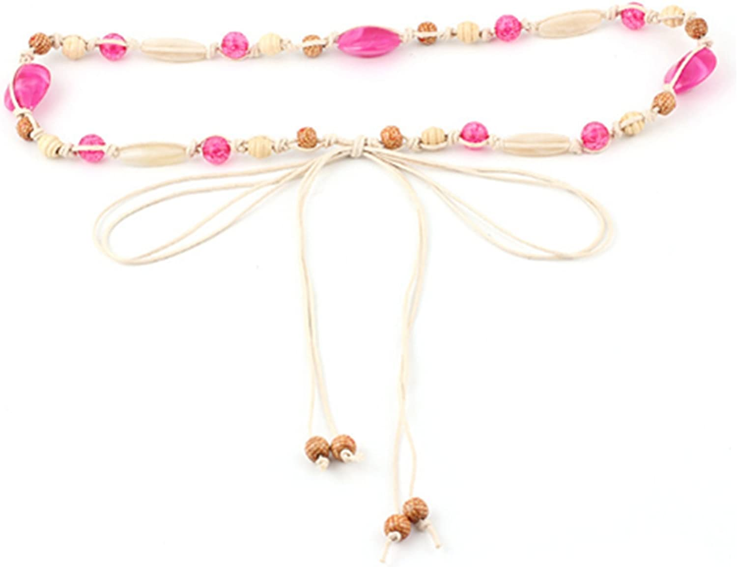 primerry Exquisite Shell Acrylic Beads Waist Rope Chain