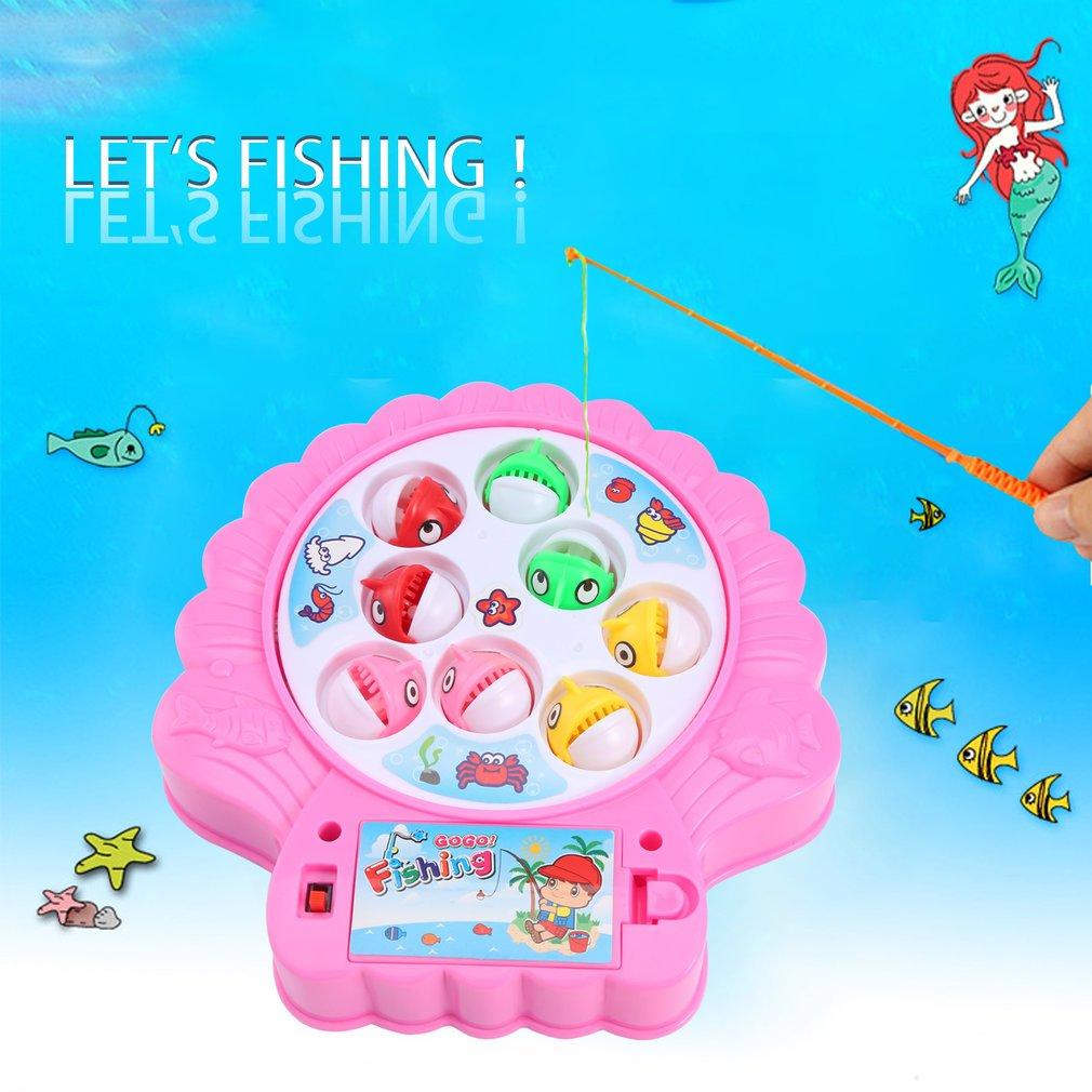OCDAY Bunte Fische Spielzeug für Kinder, Pink