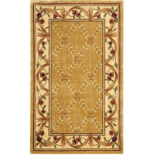 Nourison Chambord (CM04) Gold Rectangle Area Rug, 2-Feet 3-Inches by 3-Feet 9-Inches (2'3