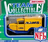 Matchbox 1990 LA LOS ANGELES RAMS NFL FOOTBALL Vintage Ford Truck in 1:64 Scale Diecast