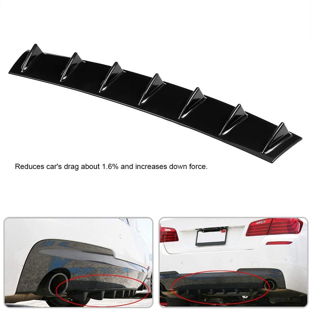 Diffusore per paraurti posteriore universale per auto Shark Fin Spoiler Diffusore pinna di squalo S
