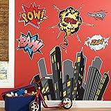 BirthdayExpress Superhero Comics Room Decor - Giant Wall Decals