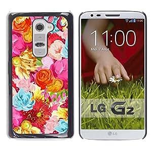 Be Good Phone Accessory // Dura Cáscara cubierta Protectora Caso Carcasa Funda de Protección para LG G2 D800 D802 D802TA D803 VS980 LS980 // Spring Blue Flowers Floral