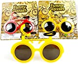 Novelty Party Prop Funny Bicycle Shaped Sunglass Kids Glasses Hallowen Colourful (A)