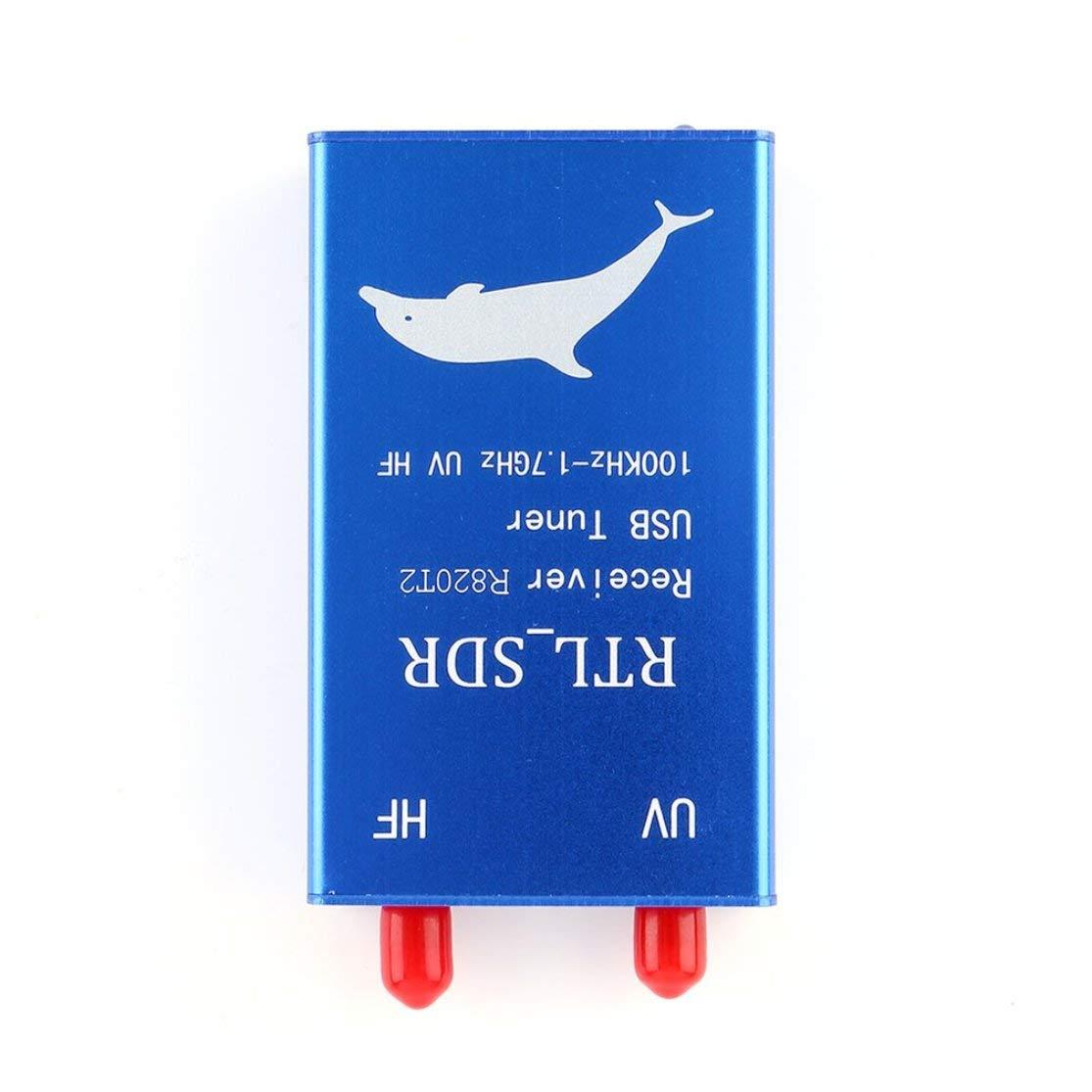LouiseEvel215 Sintonizador USB Receptor RTL2832U Radio R820T2 100KHz-1.7GHz UHF VHF UV UV HF RTL SDR CW DSB LSB Radio Am FM Trabajar con PC