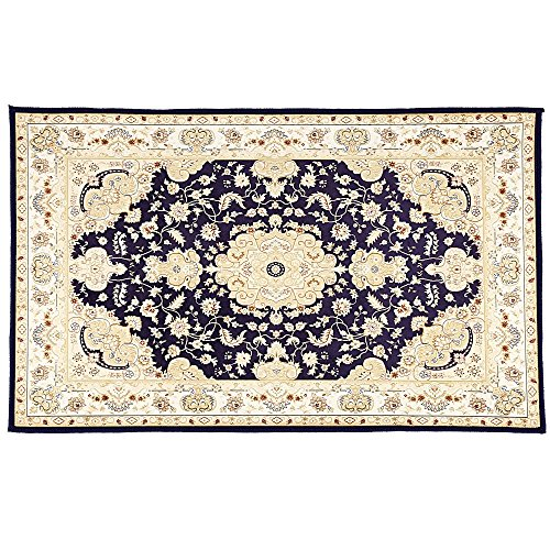 Anti-skid Bathroom Floor Carpet - Area Rugs - Bathroom Rugs - Kitchen Rugs - Home Decoration (Blue) (Hand Tufted Web)