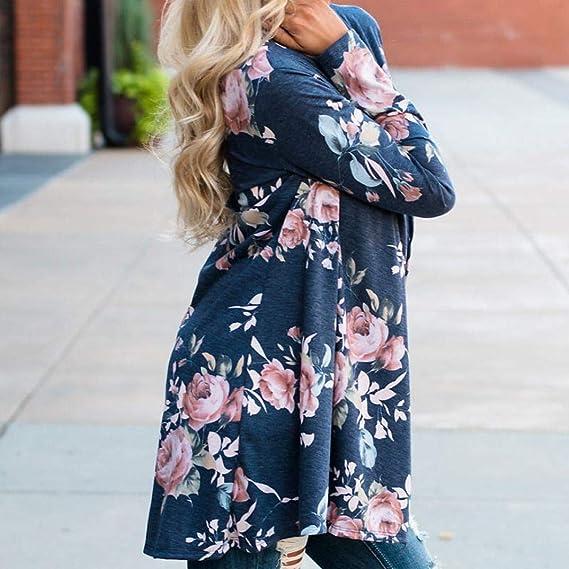 Overdose Las Nuevas SeñOras De Las SeñOras Floral Chaqueta Abierta Frente Kimono Casual Cardigan Primavera OtoñO Mejor Venta Abrigo: Amazon.es: Ropa y ...