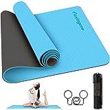 Tapete para Yoga de 6 mm de Grosor, acolchado ultra denso para apoyo y estabilidad en yoga, pilates, gimnasio y cualquier con