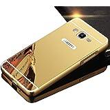 Galaxy J2 Prime Case,Grand Prime Plus Case,DAMONDY Luxury Bling Ultra Slim Thin Hard Back Case Cover Metal Bumper Frame Mirror Shockproof Design For Samsung Galaxy J2 Prime -Gold