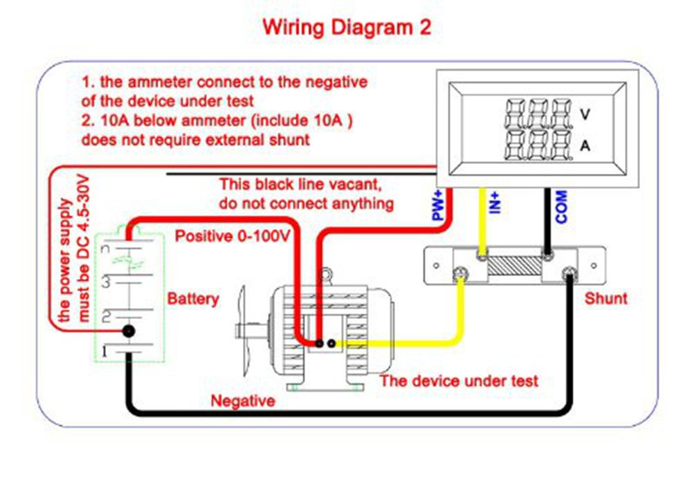 61TjTDq5LsL._SL1000_ benchtech bt yb27va dc panel 0 100v volt ampere amp meter 2in1 red 12 volt amp meter wiring diagram at honlapkeszites.co