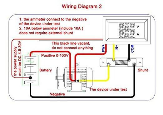 ammeter shunt wiring diagram for a all wiring diagram GM Amp Gauge Wiring Diagram benchtech bt yb27va dc panel 0 100v volt ampere amp meter 2in1 red ammeter shunt wiring diagram for a