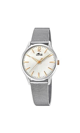c12eee997561 Lotus Watches Reloj Análogo clásico para Mujer de Cuarzo con Correa en  Acero Inoxidable 18408 1  Amazon.es  Relojes