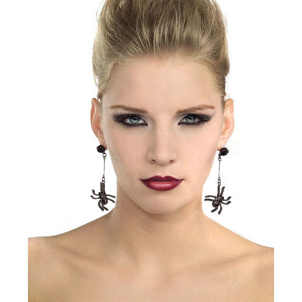 Black Spider Dangle Earrings Rubie's 6961