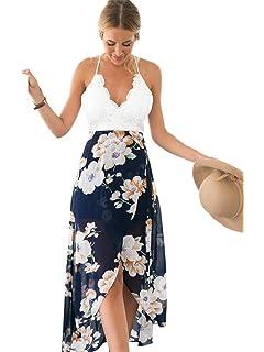 Blooming Jelly Asimmetrico Vestito Floreale Allacciato al Collo A V  Profondo delle Donne Gelatina 1919bc3122d
