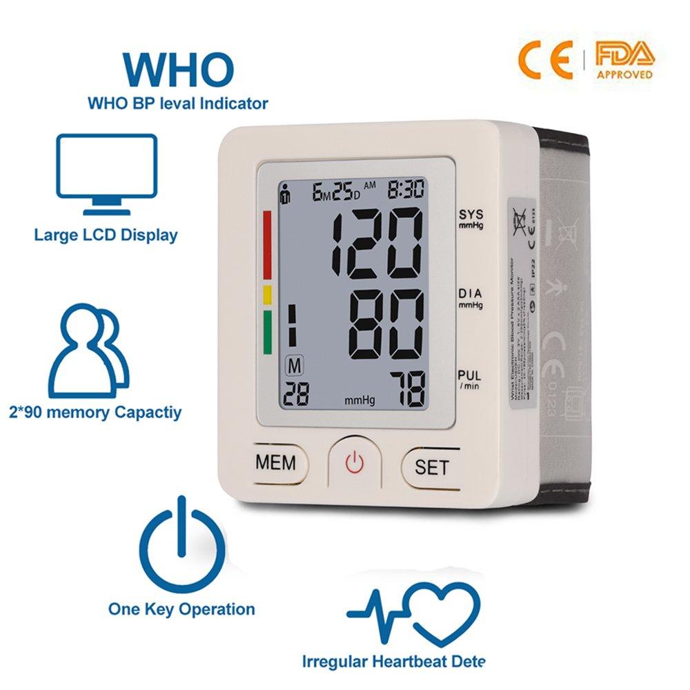 Lunasea - Pulsómetro portátil con pantalla LCD digital para presión arterial y latido cardíaco (2 modos de usuario), color blanco: Amazon.es: Salud y ...