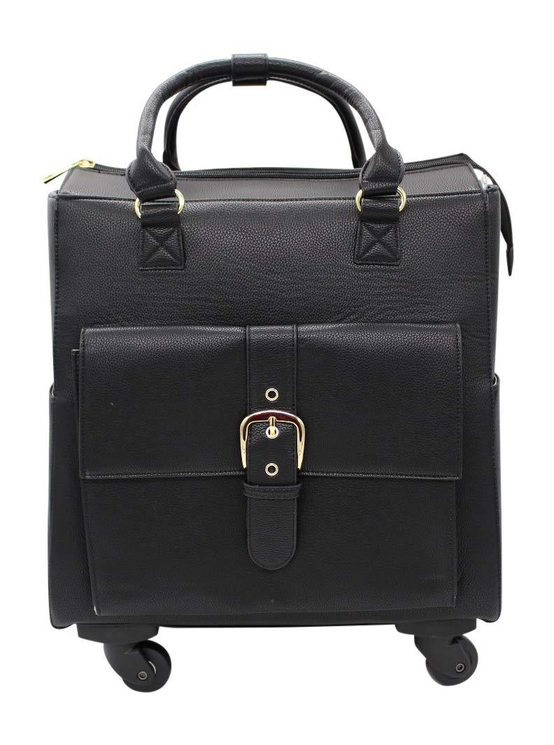 Simply Noelle Buckle Roller Bag - Black