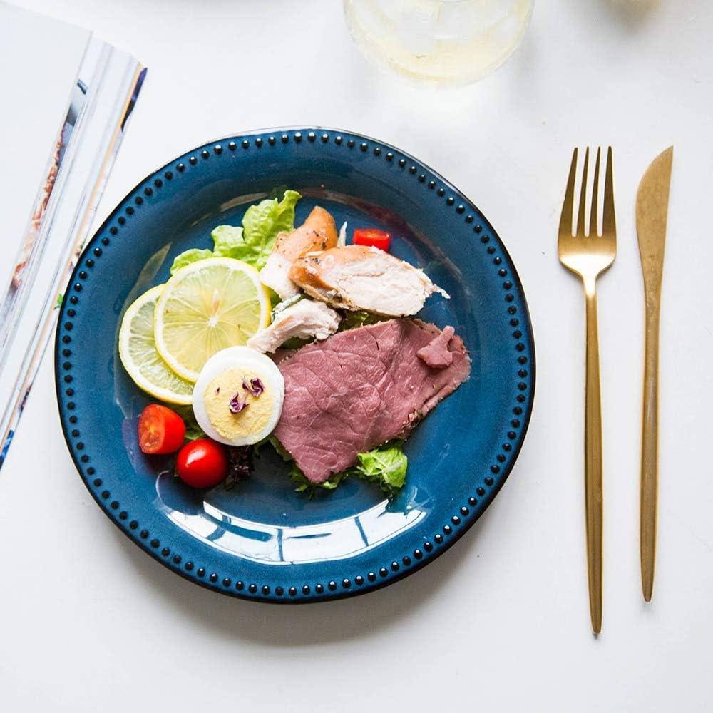 Tini - Platos y platos de cerámica para cena, diseño retro: Amazon.es: Hogar