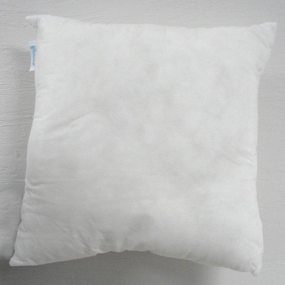 Glitzhome 18 x 18 Premium Hypoallergenic Stuffer Pillow Insert Sham Square Form Polyester, Standard / White by Glitzhome