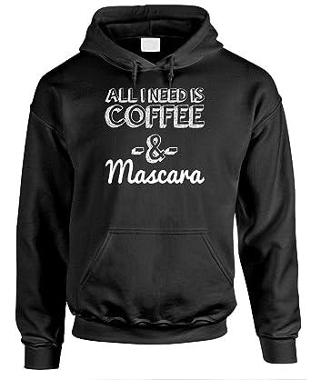 Guacamole Coffee & Mascara - Funny Meme Sarcastic - Mens Pullover Hoodie, S, Black