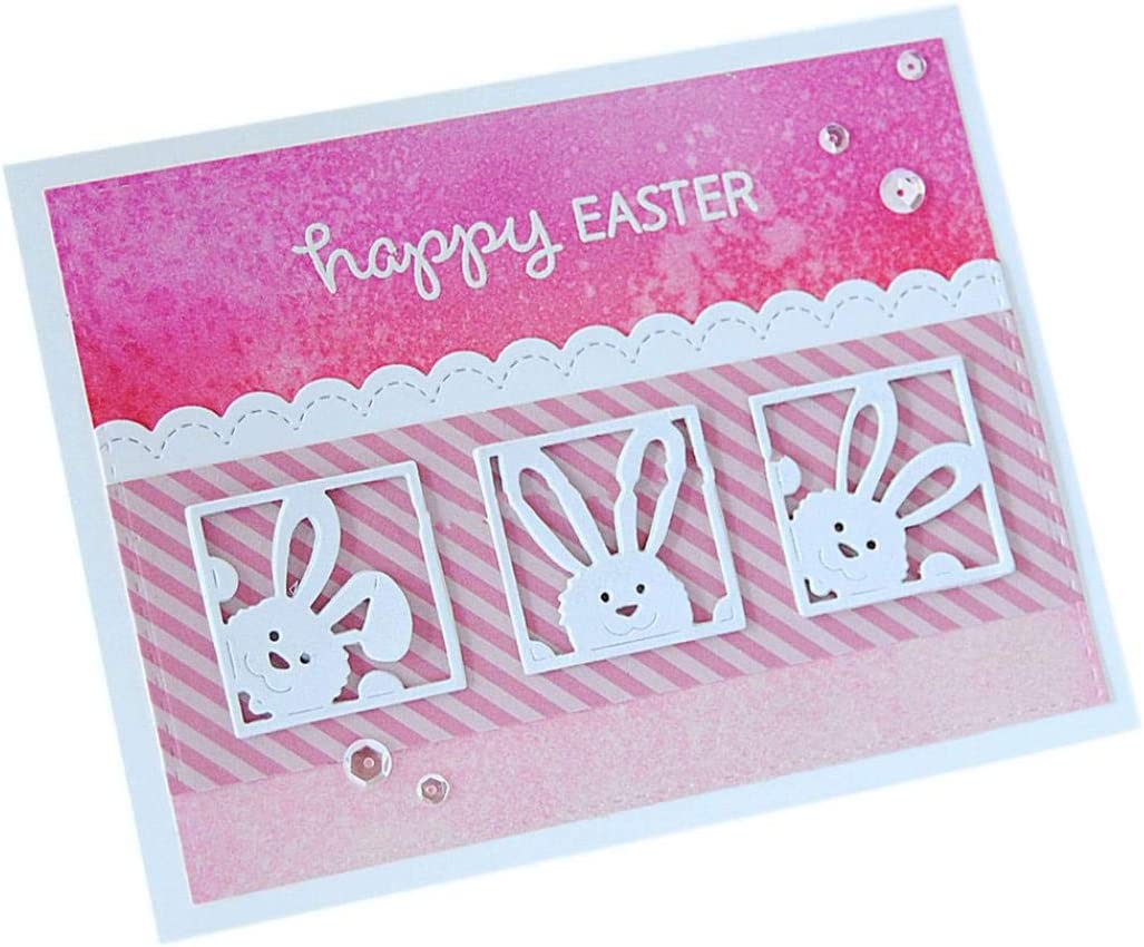 Maserfaliw Cutting Dies Stencils 3Pcs Easter Rabbit DIY Scrapbooking Paper Cards Embossing