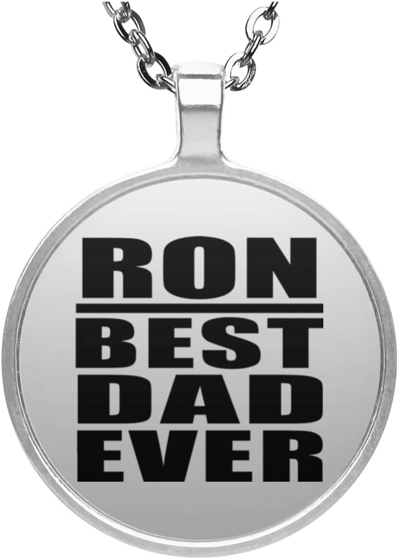 Ron Best Dad Ever - Round Necklace Collar, Colgante, Bañado ...
