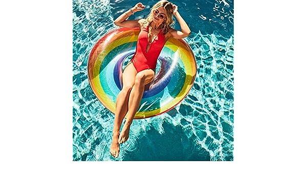 TAOtTAO - Anillo Hinchable para natación, diseño de arcoíris, 80 ...