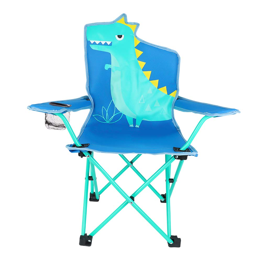 Sensational Kaboer Kids Outdoor Folding Lawn And Camping Chair With Cup Holder Dinosaur Camp Chair Spiritservingveterans Wood Chair Design Ideas Spiritservingveteransorg