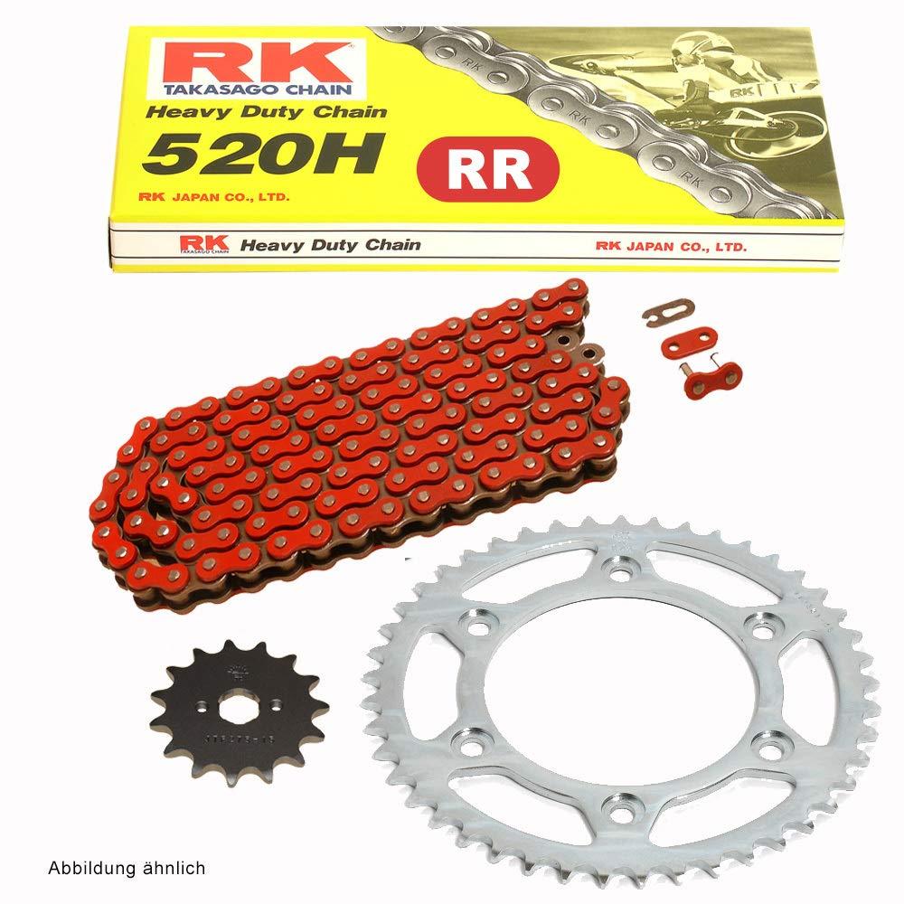 Juego de cadenas adecuado para Aprilia RS 125 Extrema 93-03 cadena RK FR 520 H 106 abierto rojo 16//39