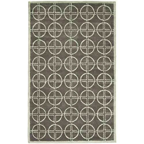 Safavieh Soho Collection SOH822A Handmade Brown and Gold Premium Wool Area Rug (3'6