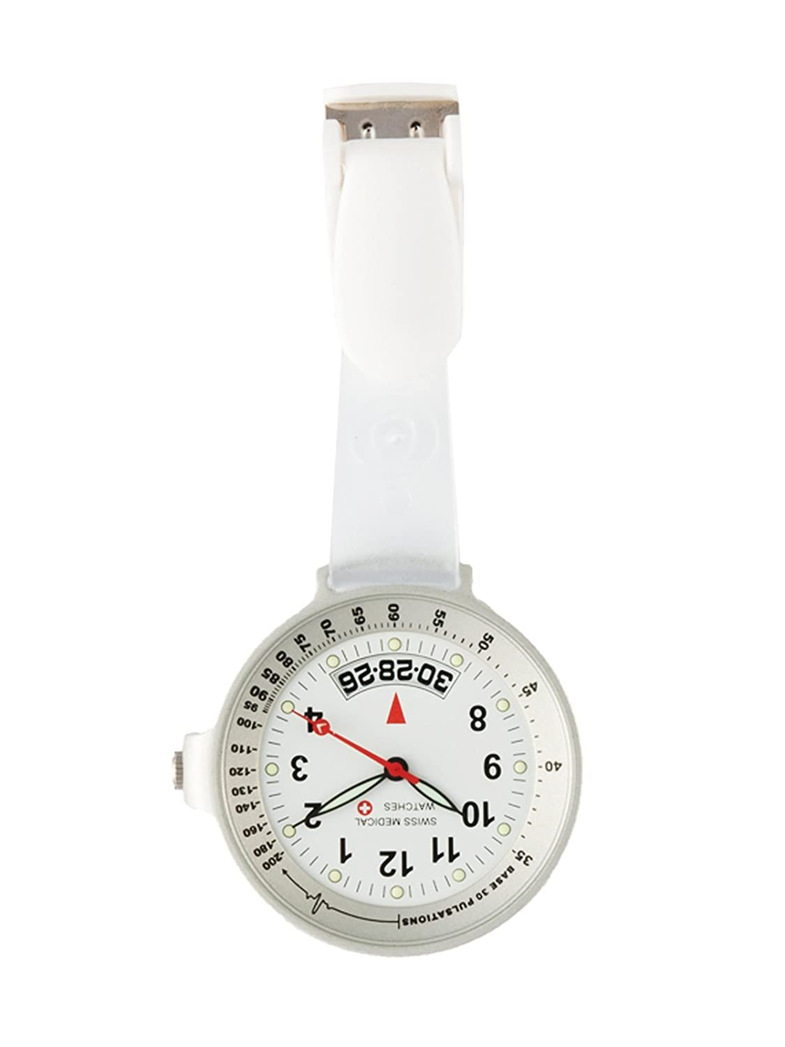 Taschenuhr Swiss Medical Care Line Clear View Silber - L.E.