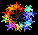 [Prettiest LED String Lights] MOCOO Battery Powered 20LED Waterproof Starfish String Lights,Decoration Rope Lights for Seasonal Decorative Christmas Holiday,Wedding,Parties(Multi-colored)DC005