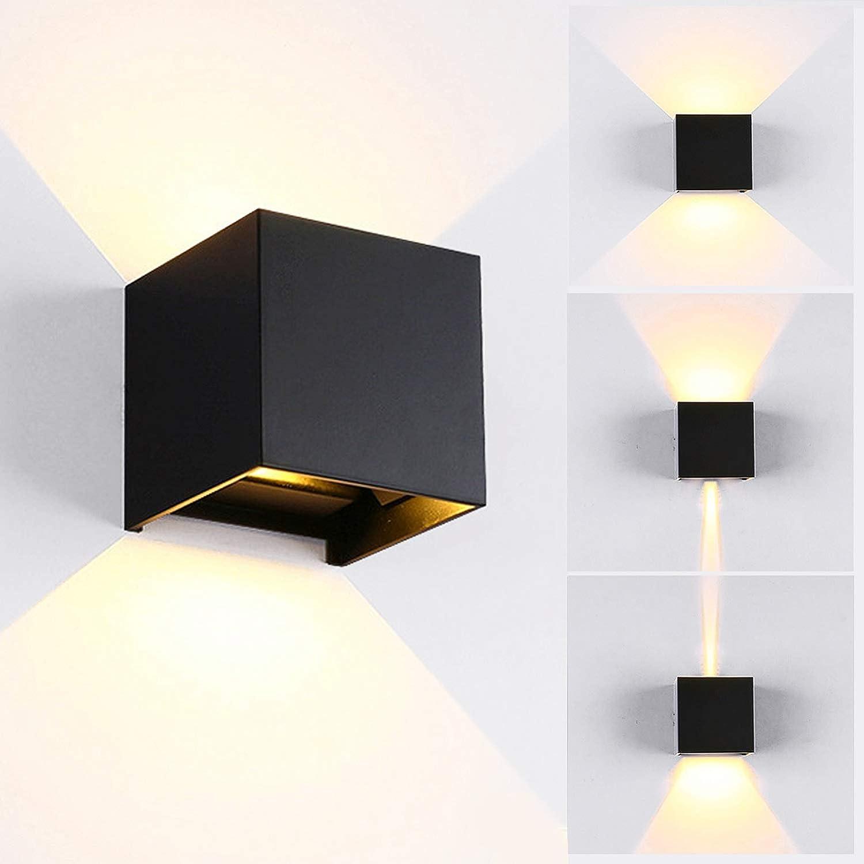 12W LED Wandleuchte Innen / Aussen Modern, Wandbeleuchtung mit ...