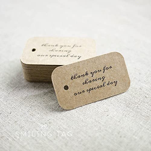 Amazoncom Thank You for Sharing Our Special Day Wedding Gift Tags