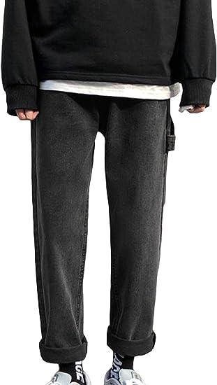 (BaLuoTe)ワイドパンツ メンズ 春 かっこいい メンズ ロングパンツ 通勤 通学 ジーンズ ジーパン カジュアル ファッション パンツ