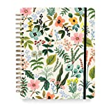 Rifle Paper Co. Lively Herb Garden 18 month weekly spiral planner also includes monthly view. Illustrated cover with gold foil highlights over an interior gold spiral binding. Sections for weekly and monthly plans, yearly overviews, holidays,...