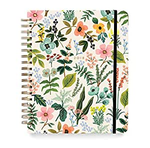 Herb Garden Weekly 18 Month Jumbo Spiral Academic Planner - August 2017 to December 2018 - by Rifle Paper Co.